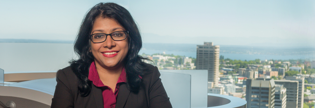 Seattle attorney Sunitha Anjilvel